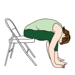 Posture Yoga bureau 5