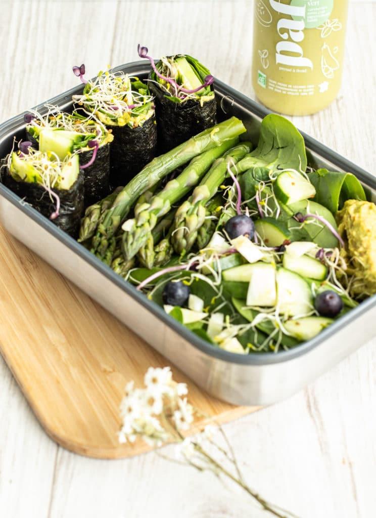 Recette healthy green salad les jus PAF