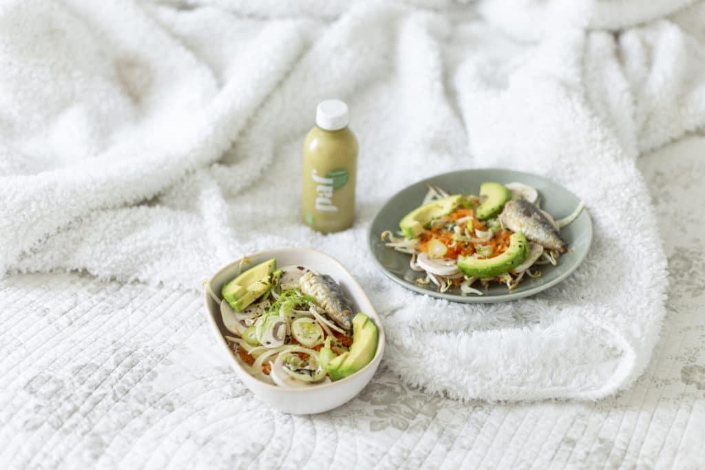 Recette Superfood Salade par les jus PAF avec notre jus vert Équilibre